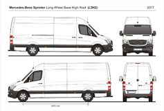 Mercedes Sprinter LWB High Roof Cargo Van L3H2 2017