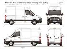 Mercedes Sprinter SWB hohes Roof Cargo Van L1H2 2017 stock abbildung