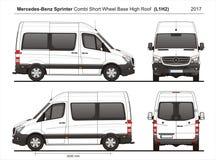 Mercedes Sprinter SWB hohes Roof Combi Van L1H2 2017 stock abbildung