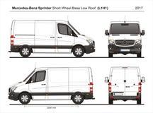 Mercedes Sprinter SWB niedriges Roof Cargo Van L1H1 2017 lizenzfreie abbildung