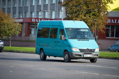 Mercedes Sprinter Van. LITHUANIA - OCT 12: Mercedes Sprinter Van on Oct. 12, 2015 in Lithuania. The Sprinter is a vehicle built by Daimler AG of Stuttgart Royalty Free Stock Photography