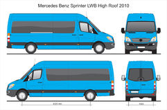 Mercedes Sprinter Van LWB 2010 Images libres de droits