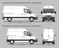 Mercedes Sprinter Van MWB et SWB Photos stock