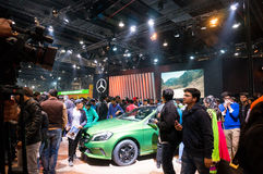 Mercedes stall auto expo 2016 delhi Royalty Free Stock Images