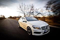 Mercedes une classe Photographie stock libre de droits