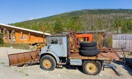 A mercedes unimog in alaska Stock Photo