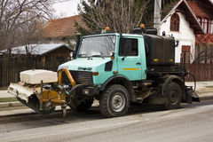 Mercedes unimog bitumen sprayer Royalty Free Stock Photo