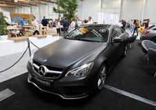 Mercedes visade på den 3rd upplagan av MOTO-SHOWEN i Krakow poland Royaltyfria Bilder