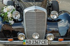Mercedes Wedding Car imagem de stock royalty free