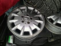 Mercedes wheel rim Royalty Free Stock Image