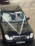 Mercedez Ślubny samochód Zdjęcie Stock