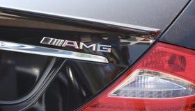 Mercedez AMG odznaka obrazy royalty free