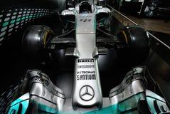 Mercedez AMG PETRONAS F1 W05 hybryd zdjęcia stock