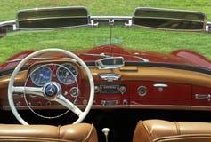 Mercedez Benz. Inside view of a convertible classic Mercedes Benz royalty free stock photos
