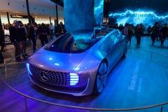 Mercedez Benz F 015 Luksusowy Elektryczny samochód Zdjęcie Stock