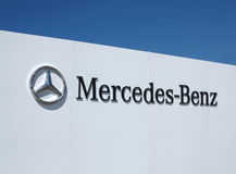 Mercedez Benz logo  Zdjęcia Royalty Free