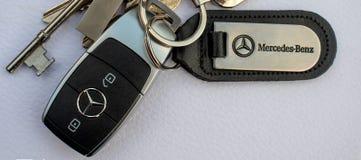 Mercedez Benz samochodu klucza fob zdjęcia royalty free