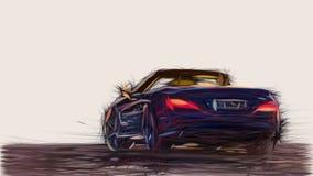 2013 Mercedez Benz SL ID 7996 royalty ilustracja