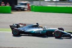 Mercedez formuła jeden jadący Lewis Hamilton Obraz Stock