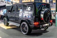 Mercedez G 63, drugie pokolenie, W463, klasy drogi samoch?d produkuj?cy Mercedes-Benz obraz royalty free
