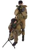 Mercenari con la mitragliatrice ed il lanciarazzi Fotografia Stock
