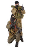 Mercenaries with AK 47 and rocket launcher Royalty Free Stock Image
