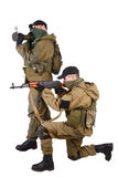 Mercenaries with AK 47 and rocket launcher Stock Image