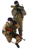 Mercenaries with AK 47 and rocket launcher Stock Photos