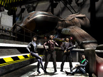 Mercenaries of future Stock Image