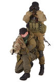 Mercenaries sniper pair with SVD rifle Royalty Free Stock Photo