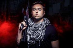 Mercenario Soldier da Private Military Company Immagini Stock