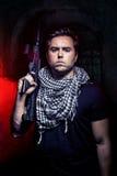 Mercenario Soldier da Private Military Company Fotografie Stock