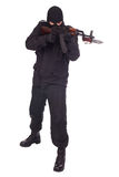 Mercenary with AK 47 gun witn bayonet Royalty Free Stock Images