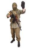 Mercenary with AK 47 Stock Image