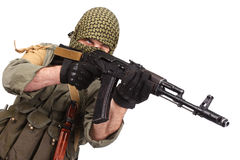 Mercenary with AK 47 Stock Image