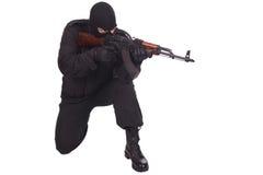 Mercenary with AK 47 Royalty Free Stock Photo