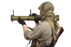 Mercenary with anti-tank rocket launcher - RPG Stock Images