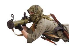 Mercenary with anti-tank rocket launcher - RPG Royalty Free Stock Photos