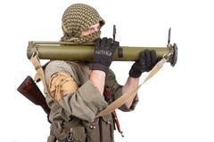 Mercenary with anti-tank rocket launcher - RPG 26 Stock Photos