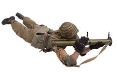 Mercenary with anti-tank rocket launcher - RPG 26 Stock Images
