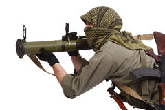 Mercenary with anti-tank rocket launcher - RPG Stock Photography