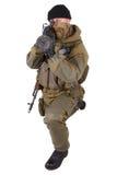 Mercenary with bazooka gun Stock Photography