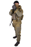 Mercenary with bazooka gun Stock Image