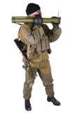 Mercenary with bazooka gun Royalty Free Stock Images