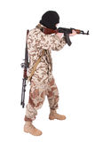 Mercenary with kalashnikov rifle Royalty Free Stock Photos