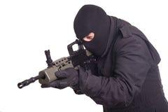 Mercenary with l85a1 rifle Stock Photos