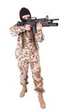Mercenary with m4 carbine Royalty Free Stock Photos