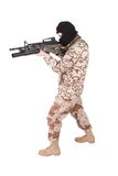 Mercenary with m4 carbine Royalty Free Stock Images