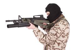 Mercenary with m4 carbine Stock Images