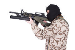 Mercenary with m4 carbine Royalty Free Stock Photo